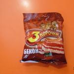 сухарики 3 корочки со вкусом бекона