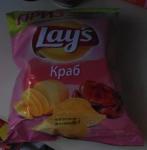 чипсы Лейс со вкусом краба