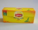 Черный чай Lipton Yellow Label в упаковке 25 пакетиков