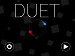 """Игра для iPad """"Duet"""", скриншот - вступительный экран, альбомная ориентация"""