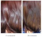 Фото волос после применения маски