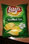 Чипсы Лейс со вкусом зеленого лука