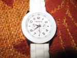 Наручные часы с силиконовым ремешком Geneva, циферблат (белый вариант)