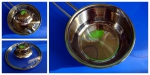 Ковш со стеклянной крышкой Fissman Bambino 0.6 л SS-5270.12: без крышки
