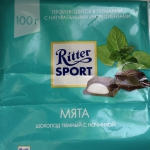 шоколад риттер спорт мята