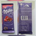 Молочный шоколад милка клубника крем сливки
