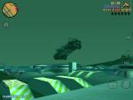 Игра Grand Theft Auto 3 для iPad - красиво показаны полеты на машине, если заехать на трамплин