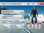 Игра Fresh Tracks Snowboarding для iPad - главное меню игры