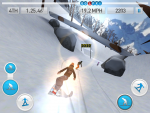 Игра Fresh Tracks Snowboarding для iPad - спуск с горы