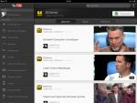 Приложение YouTube для iPad - на канале пользователя можно смотреть Действия (фид), загруженные Видео и Плейлисты