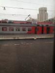 Вид из окна аэроэкспресса в Домодедово
