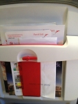 Спинка кресла Airbus A321 (Austria Airlines)
