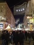 Центральная улица Вены в Новый год