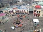 Вид с колеса обозрения на парк Пратер (Вена)