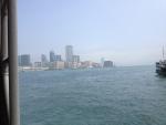 Вид с залива с корабля в Гонконге