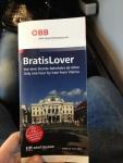 Небольшая брошюра о Братиславе, которую выдают при покупке билета на поезд