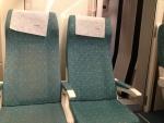 Сиденья в поезде Euromed Барселона-Валенсия (Renfe)