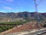 Вид из окна поезда Euromed Барселона-Валенсия