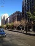 Улица Валенсии недалеко от центра. Реально Нью-Йорк напоминает.