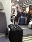 Внутри поезда в аэропорт (Барселона, Испания)