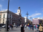 Площадь Пуэрто дель Соль в Мадриде