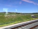 Картинка за окном из поезда Мадрид-Валенсия