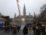 Ратуша в Вене в Новый год
