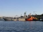 Военные корабли в Севастопольской бухте