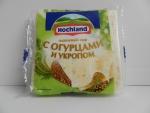 Сыр Hochland плавленый с огурцами и укропом - упаковка спереди