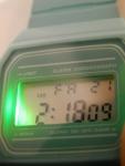 Наручные часы H&M, бирюзовые - подсветка