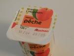 Йогурт Auchan Peche с персиком