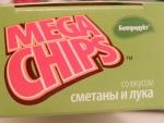 Чипсы Mega Chips со вкусом сметаны и лука - логотип