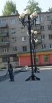 Фонари у Тольяттинской Филармонии (Россия, Тольятти)