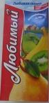 Нектар из яблока, банана, груши и киви с мякотью «Любимая сказка» Любимый
