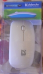 Ультратонкая проводная мышь с ярким дизайном defender в упаковке