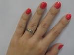 Лак-укрепитель «Умная эмаль» коралловый кристалл на ногтях
