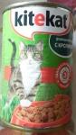 Полнорационный консервированный корм Kitekat с кроликом для взрослых кошек