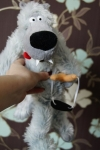 Внешний вид мягой игрушки волк Вован