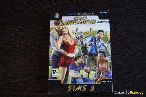 Упаковка диска the sims 3 новая антология