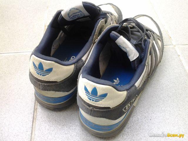 Мужские кроссовки Adidas zx750  white / grey / blue фото
