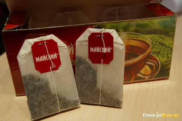 """Отборный цейлонский чай """"Майский"""" черный байховый в пакетиках фото"""