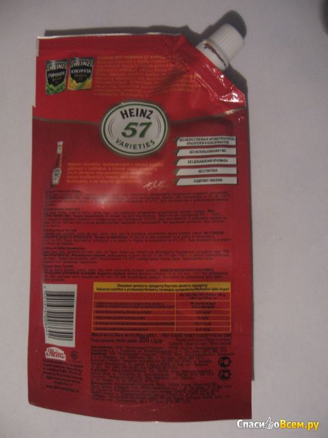 Томатный кетчуп Heinz фото