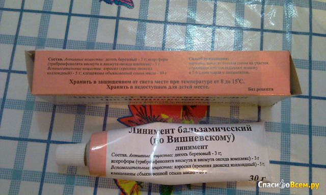 Вишневского мазь применение по женской и картинки