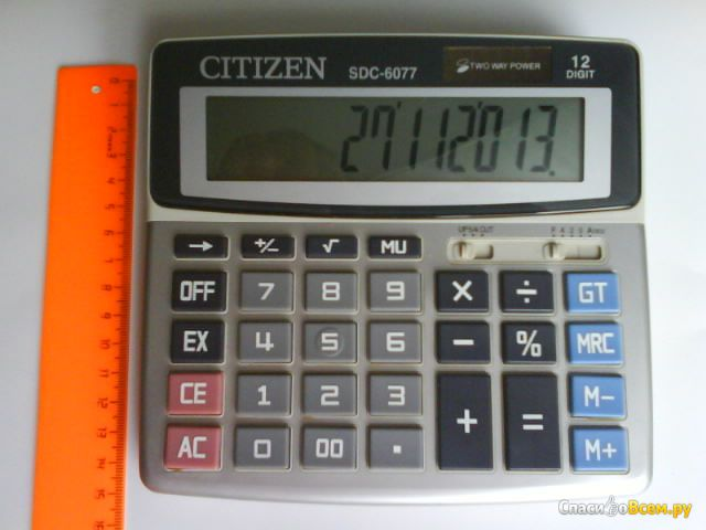 Калькулятор Citizen SDC-6077 фото