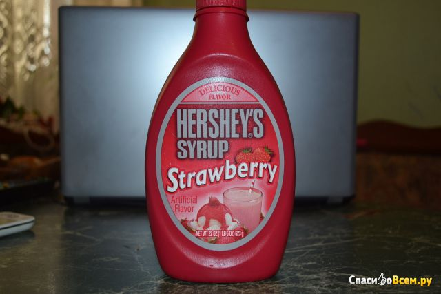 Клубничный сироп Hershey's Strawberry Syrup