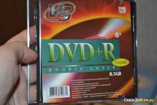 Диск VS DVD+R 8,5gb 8x фото