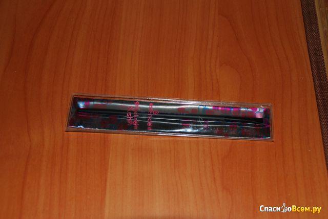 Кисть для гелевой подводки Essence Gel eyeliner brush скошенная фото
