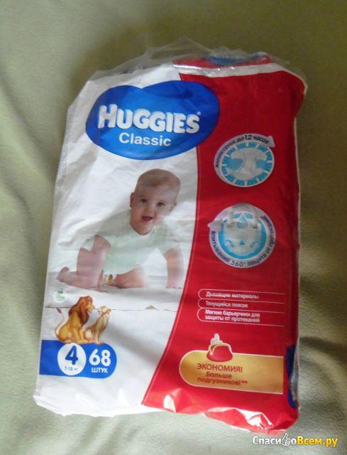 Одноразовые подгузники Huggies Classic фото