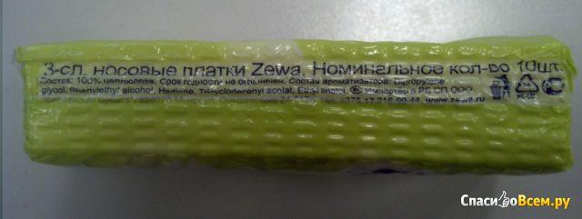 """Бумажные платочки Zewa Deluxe """"Ромашка"""""""