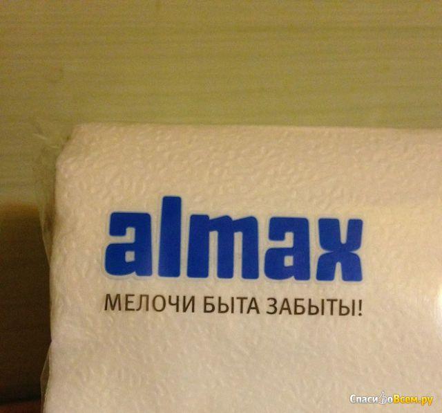 """Салфетки бумажные """"Almax"""" белые фото"""